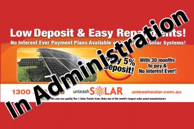 Solar energy company 'Unleash Solar' enters voluntary administration.